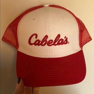 PRICE DROP Red/white Cabela's adjust. trucker hat
